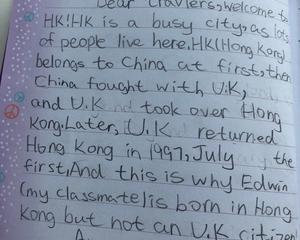 九岁半女儿的英语
