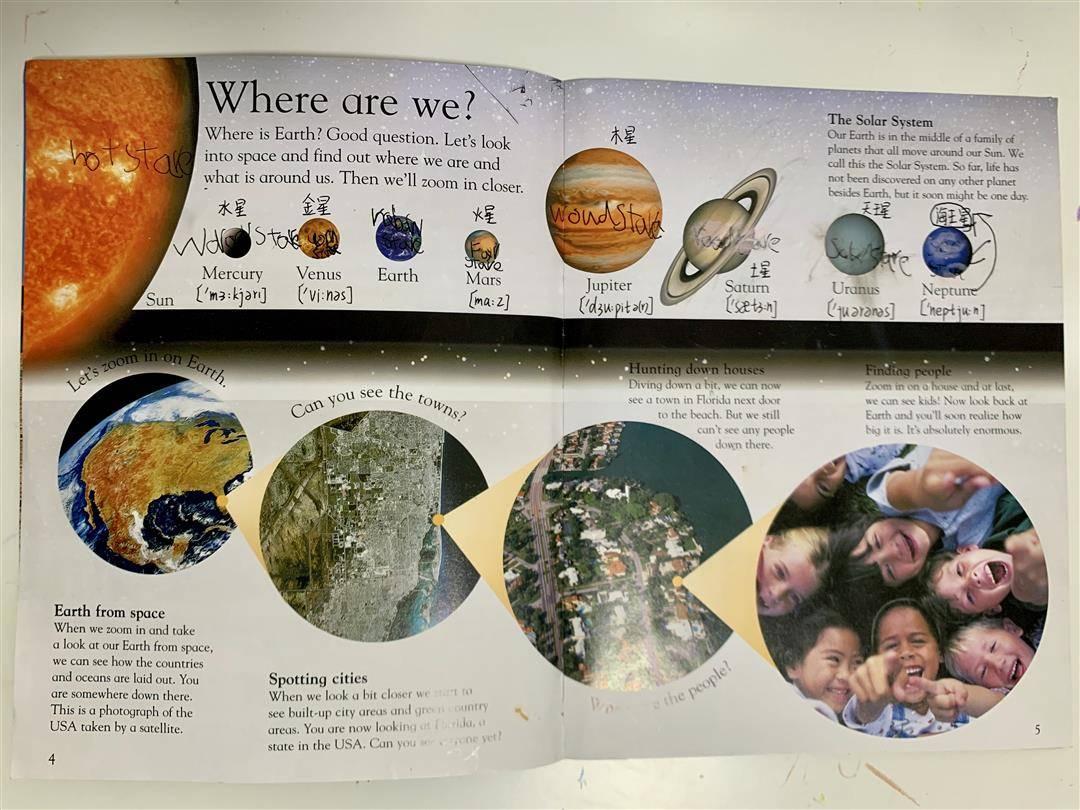 我的自制小书_母亲节,5岁儿子送我一本自制的太阳系-小花生